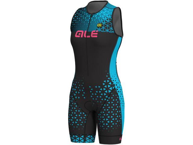 Alé Cycling Triathlon Rush Mouwloos Trisuit Dames, zwart/turquoise